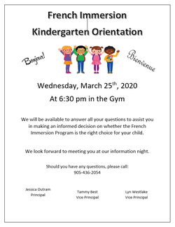 French Immersion Information Night!