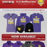 Spirit Wear is back at MacGillivray!
